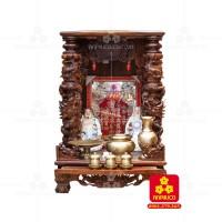 Bàn thờ Thần tài bằng gỗ Cẩm Lai đẹp(Model T.1CL.TOD.6088.002)