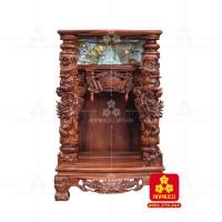 Bàn thờ Thần tài bằng gỗ Cẩm Lai đẹp(Model T.1CL.TOD.68108.001)
