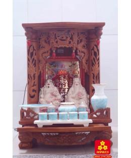 Mẫu bàn thờ Thần tài bằng gỗ
