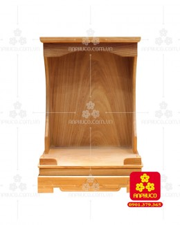 Bàn thờ ông Địa bằng gỗ gỏ đỏ(Model: T.1GD.TOD.4262.003)