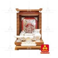 Bàn thờ ông Địa bằng gỗ gỏ đỏ(Model: T.1GD.TOD.4868.007)