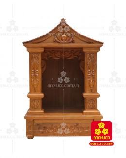 Bàn thờ ông Địa bằng gỗ gỏ đỏ(Model: T.1GD.TOD.5688.001)