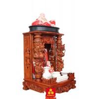 Bàn thờ thần tài gỗ Hương chạm Rồng nổi