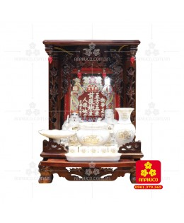 Bàn thờ ông Địa gỗ Muồng(Model: T.1M.TOD.4868.003)