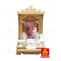 Bàn thờ  Ông Địa gỗ sồi(Model: T-1S.TOD.4868.001)