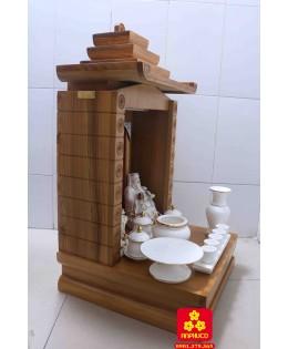 Mẫu bàn thờ Thần Tài kiểu mới dành cho nhà phố