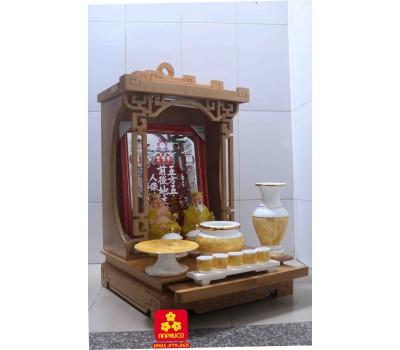 Bàn thờ Thần Tài bằng gỗ tự nhiên