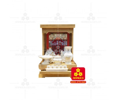Bàn thờ  Ông Địa gỗ sồi(Model: T-1S.TOD.4262.005)