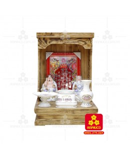 Bàn thờ  Ông Địa gỗ sồi(Model: T-1S.TOD.4868.006)