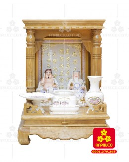 Bàn thờ  Ông Địa gỗ sồi(Model: T.1S.TOD.4868.013)