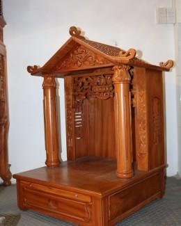 Bàn thờ gỗ Gõ đỏ mái chùa