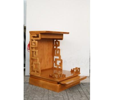 Bàn thờ ông Địa gỗ Sồi kiểu Anphuco